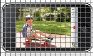 eight pixel grid