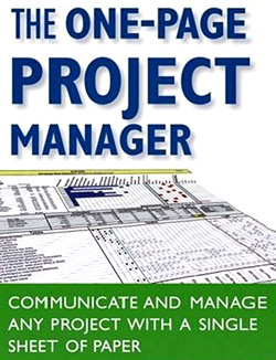 book The One Page Project-Manager Communicate and Manage Any Project