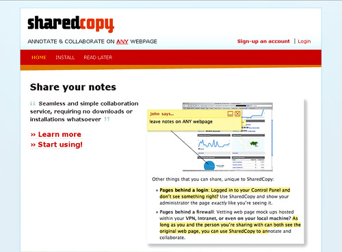 annotation tool SharedCopy