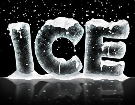 christmas photoshop tutorial ice effect photoshop