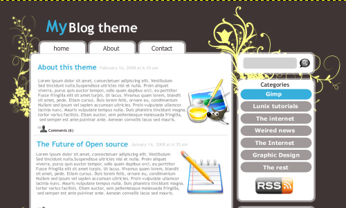 Blog Theme Design gimp tutorial