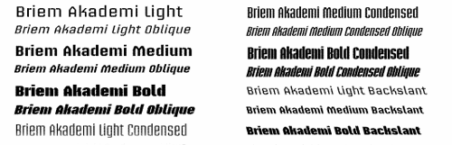Briem akademi - Abstract Fonts