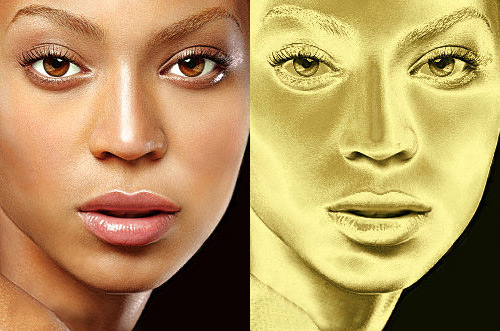 Gold Plated Effect gimp tutorial