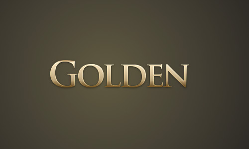 Gold Text Effect gimp tutorial
