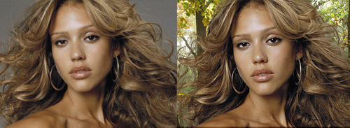 Masking hair fine strands gimp tutorial