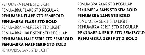 Search Penumbra Sans Fonts