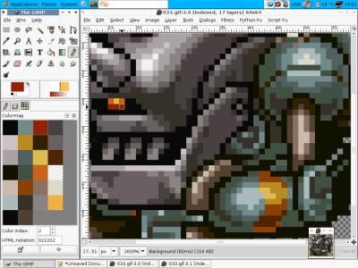 gimp pixel art