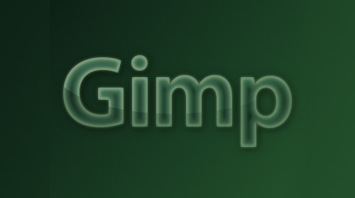 transparent glass lettering gimp tutorial