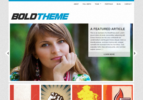 The Bold WordPress Theme