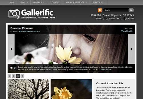 Gallerific WordPress Theme