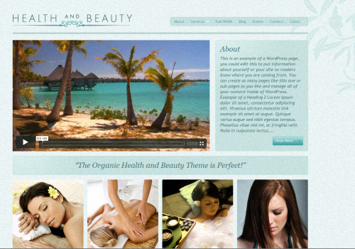 The Health and beauty WordPress Theme