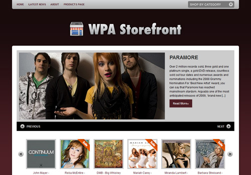 WPA Storefront WordPress Theme