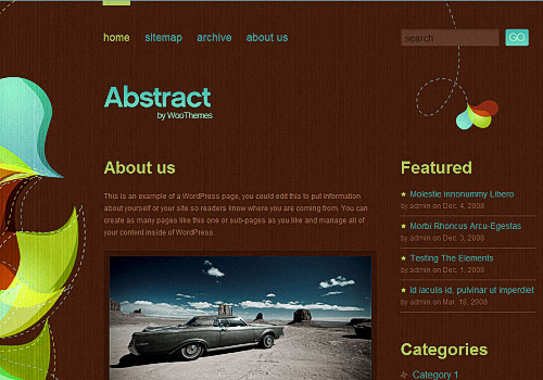 Abstract WordPress Theme