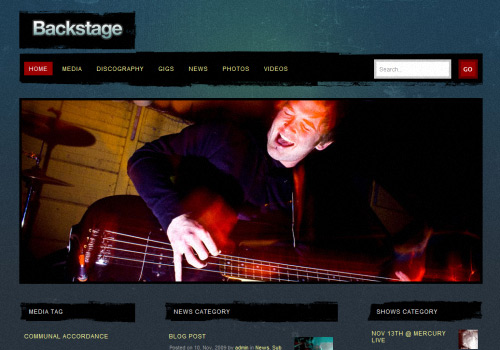 Backstage WordPress Theme