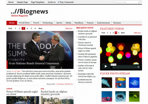 BlogNews WordPress Theme