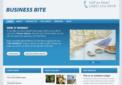 Business Bite WordPress Theme