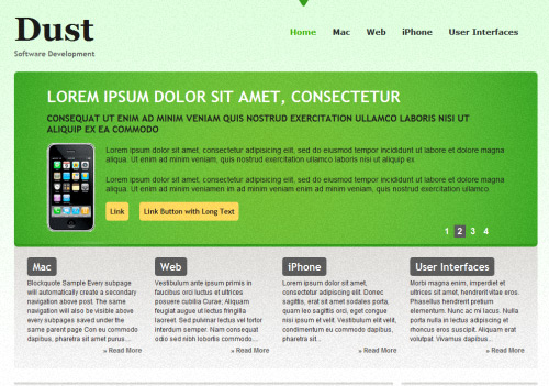 Dust CMS Theme WordPress Theme