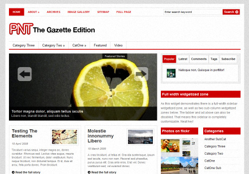 Gazette Edition WordPress Theme