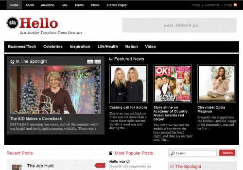 Hello magazine WordPress Theme