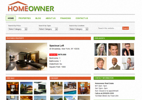 Homeowner WordPress Theme
