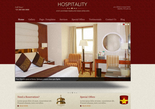 Hospitality WordPress Theme