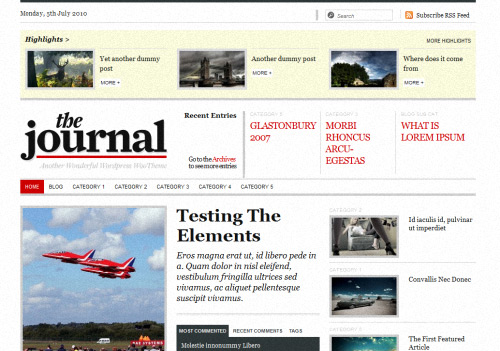 The Jjournal WordPress Theme