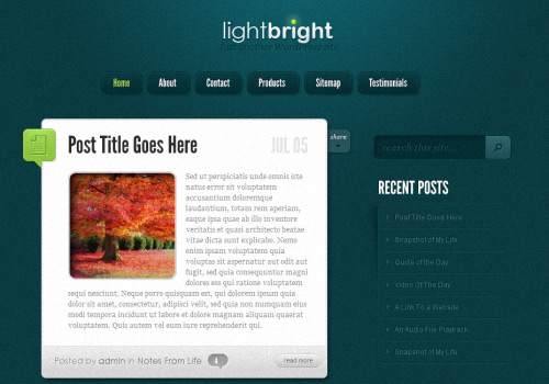 Light Bright WordPress Theme