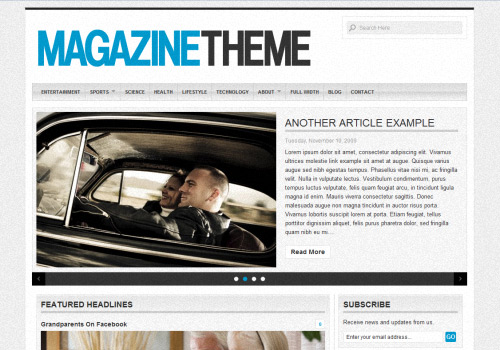 The magazine WordPress Theme