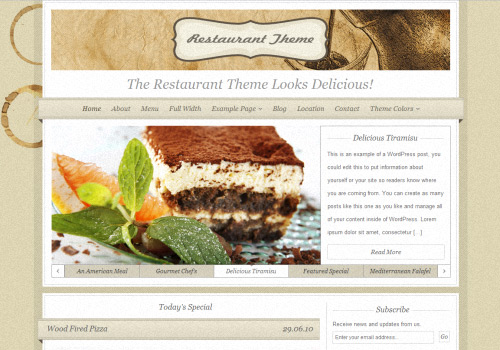 The Restaurant WordPress Theme