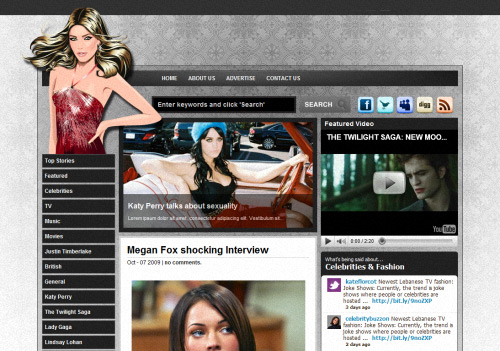 Seduction Magazine WordPress Theme