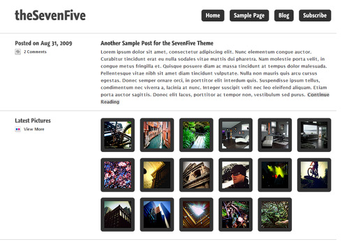 Seven Five WordPress Theme
