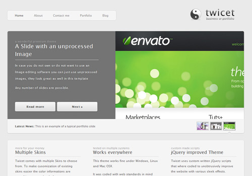 Twicet WordPress Theme