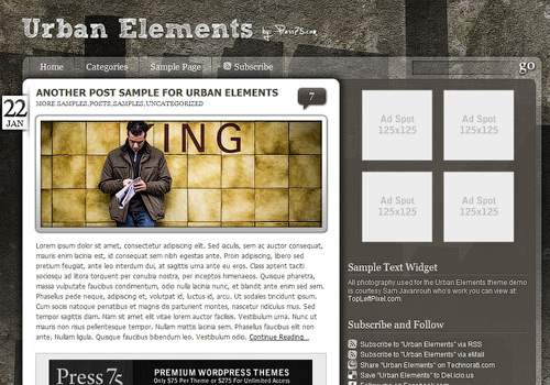 Urban Elements WordPress Theme