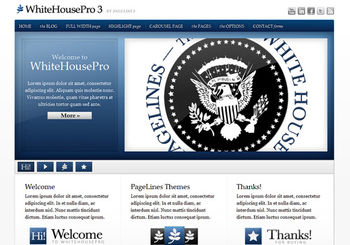 WhiteHousePro WordPress Theme