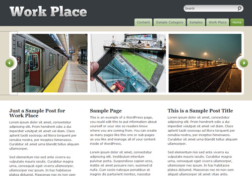 Work Place WordPress Theme