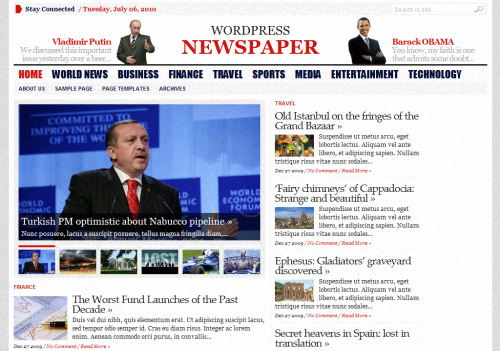 WP Advanced Newspaper WordPress Theme