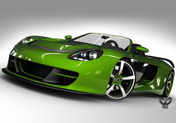Porche Carrera GT 3D Wallpaper