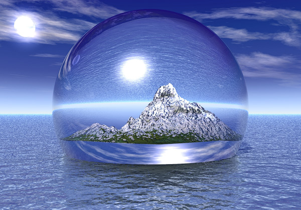 World in A Bubble 3D Wallpaper