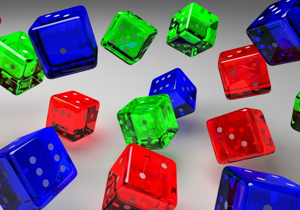 Dice in Color 3D Wallpaper