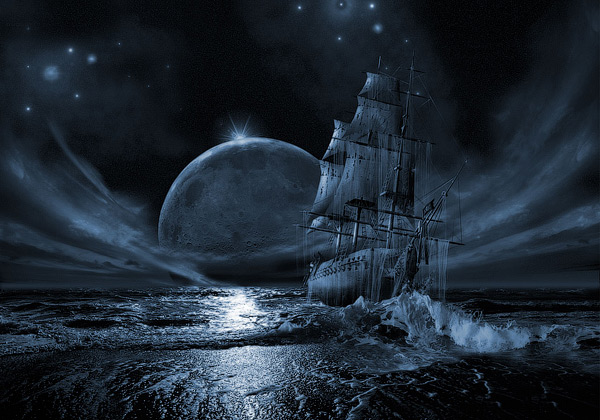 Ghost Ship Poster 3D Wallpaper