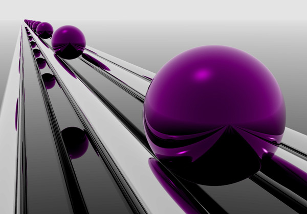 Purple Ball 3D Wallpaper