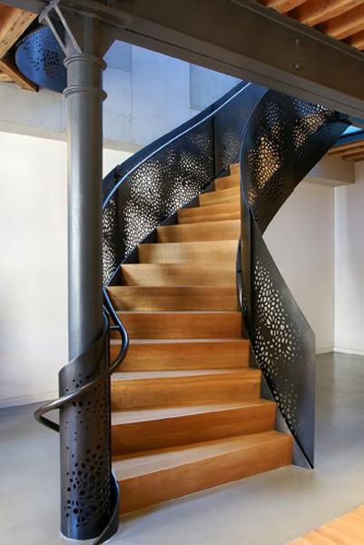 steel railing stairs