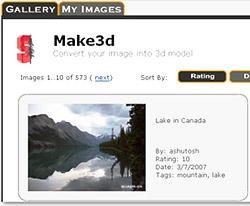 Convert photo into 3D model