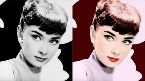 Audrey Hepburn Before&After