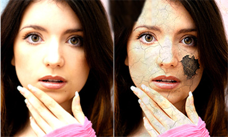 crack peel photoshop tutorial