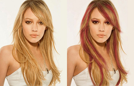 Creative Hair Color Effects. change hair color photoshop