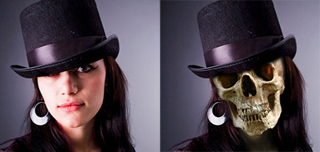 Scull Face Photoshop tutorial