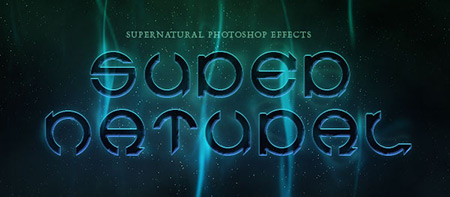 supernatural text photoshop