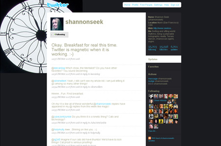 twitter background design fading