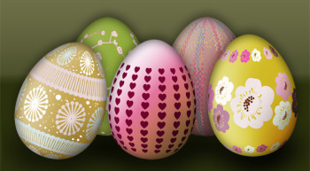 Easter Eggs Photoshop Brush
